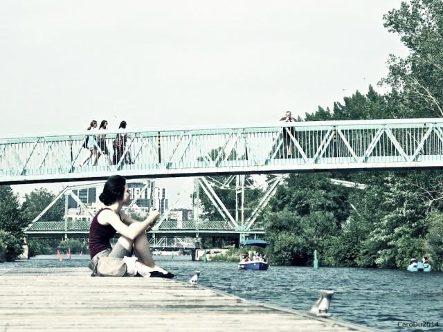 HIER - Au bord du canal Lachine, Montréal, 22 juillet 2014