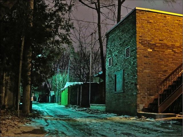 LA NUIT MONTE DANS LA RUELLE - Fin novembre 2014, Petite-Patrie, Montréal
