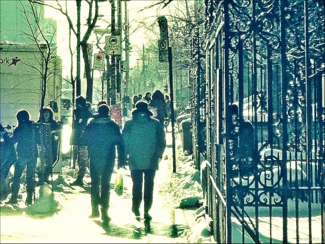 EXISTER TRANQUILLEMENT - Rue Sherbrooke Ouest, Montréal, janvier 2015