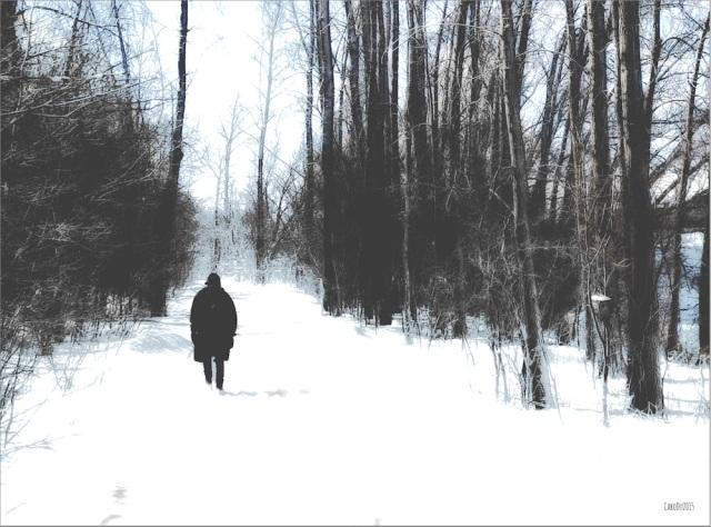 ANNE, OU LA FIN DE L'HIVER  Ce matin, le long de la rivière des Prairies, Montréal