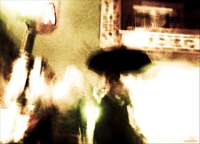 LE PARAPLUIE Intersection des rues Beaubien et Christophe-Colomb, hier soir, Montréal