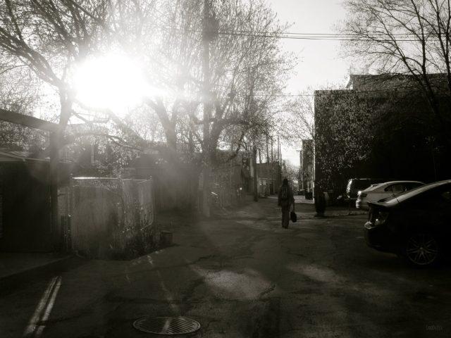 SOLEIL BAS - Hier, dans une ruelle pas loin de chez nous (cliquer 2x pour agrandir)