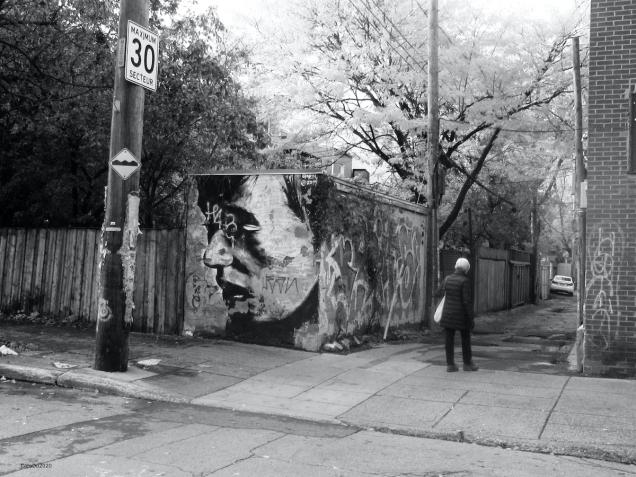Le Mile-End d'entre les jours - Murale par l'artiste OMEN, 2014